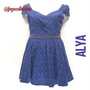 Navy blue dress ALYA za-23